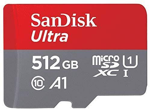 MicroSD SanDisk 512GB por 62,18€