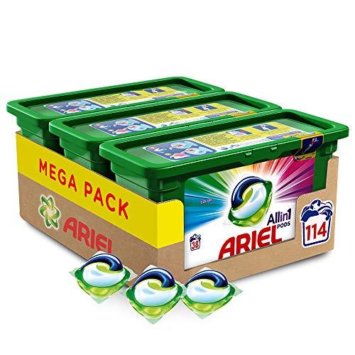 Detergente en cápsulas lavadora Ariel Allin1 Pods Color 114 lavados (3 x 38) [Precio suscripción]