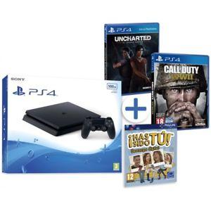 Detalles de  PS4 500GB SLIM + UNCHARTED EL LEGADO PERDIDO + CALL OF DUTY WW2 + HAS SIDO TU