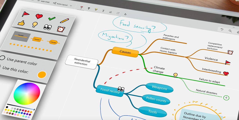 Microsoft: Mind Maps Pro (gratis)