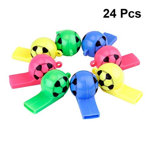 24 silbatos para niños de colores