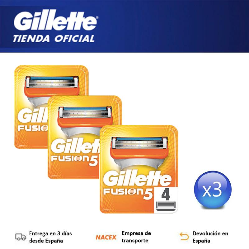 Recambios Maquinilla Gillette Fusion5, 3x4 Unidades *plaza*