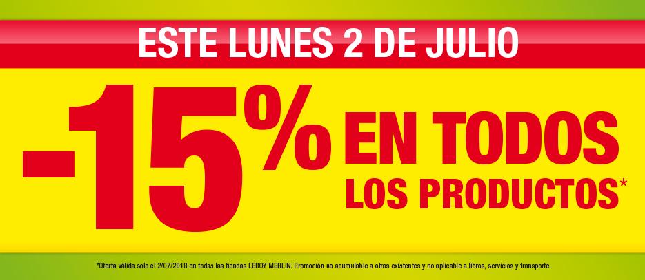 -15% en LEROY MERLIN día 2 de julio