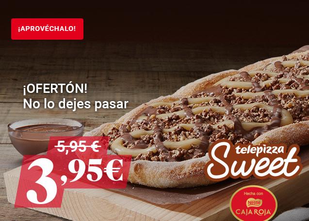 Oferta Telepizza Sweet con Caja Roja