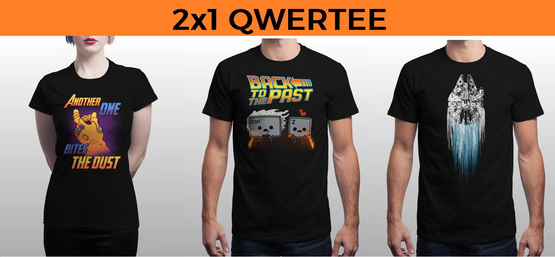 2x1 en camisetas en Qwertee