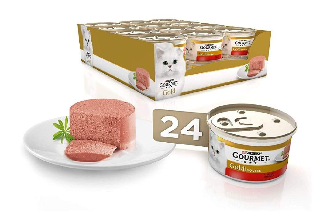 Purina Gourmet Gold Mousse comida para gatos con Buey 24 x 85 g