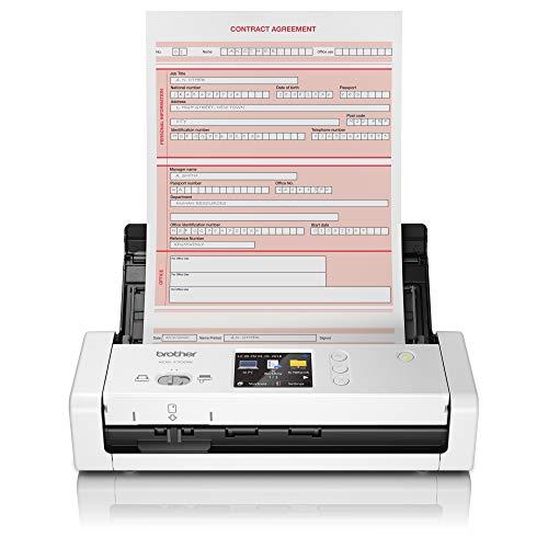 Brother ADS-1700W - Escáner departamental Compacto y Potente (hasta 25hpm, resolución óptica hasta 600 x 600 PPP, Ranura para Tarjetas