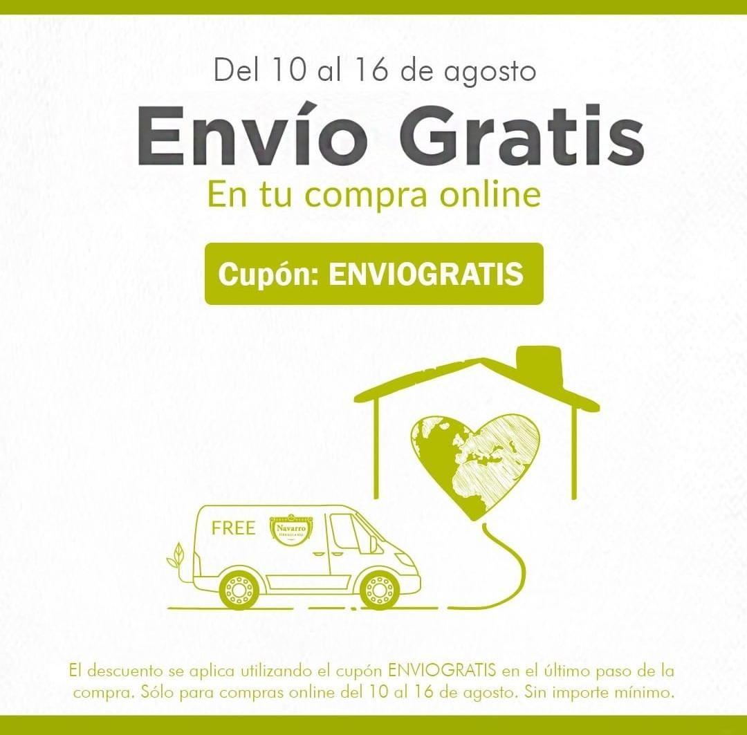 HERBOLARIO NAVARRO: Envío gratis sin mínimo hasta el 16 de Agosto y más promos