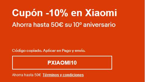 10 % EN ARTICULOS XIAOMI EN SELECCIÓN DE ARTICULOS