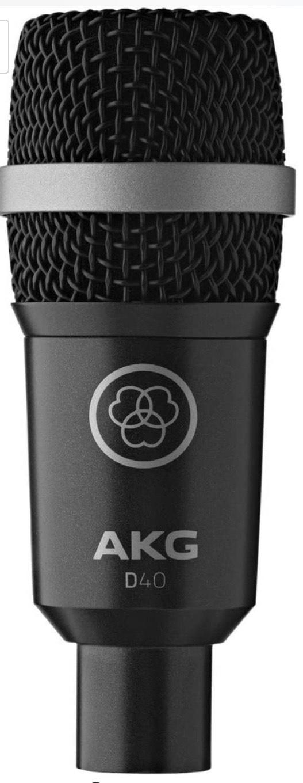 Akg - D-40 microfono instrumentos con pinza h-440 d40