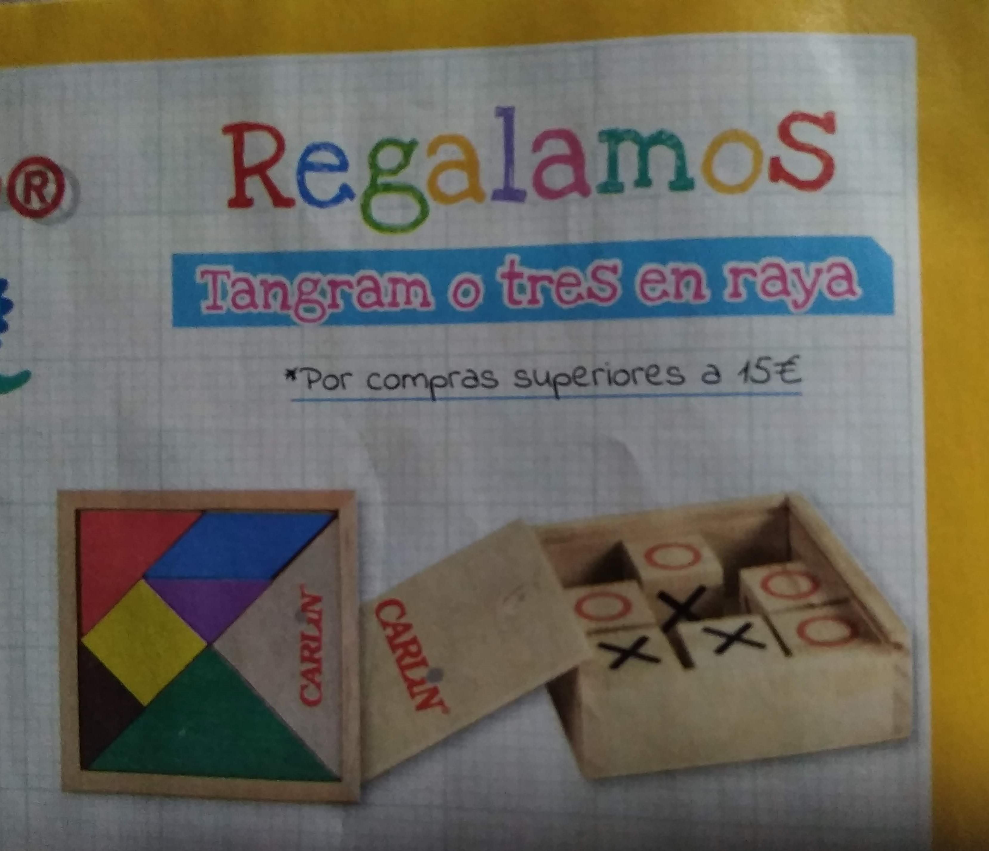 2x1 en cinta Tipp-Ex + Tangram o tres en raya de regalo por compras superiores a 15€ en Carlin [material escolar y de oficina]