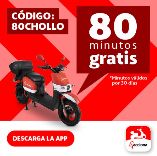 80 minutos gratis Acciona MotoSharing (NUEVAS ALTAS)