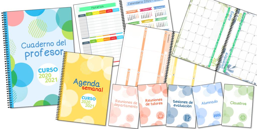 GRATIS Cuaderno del profesor & agenda 2020-2021 (para descargar e imprimir)