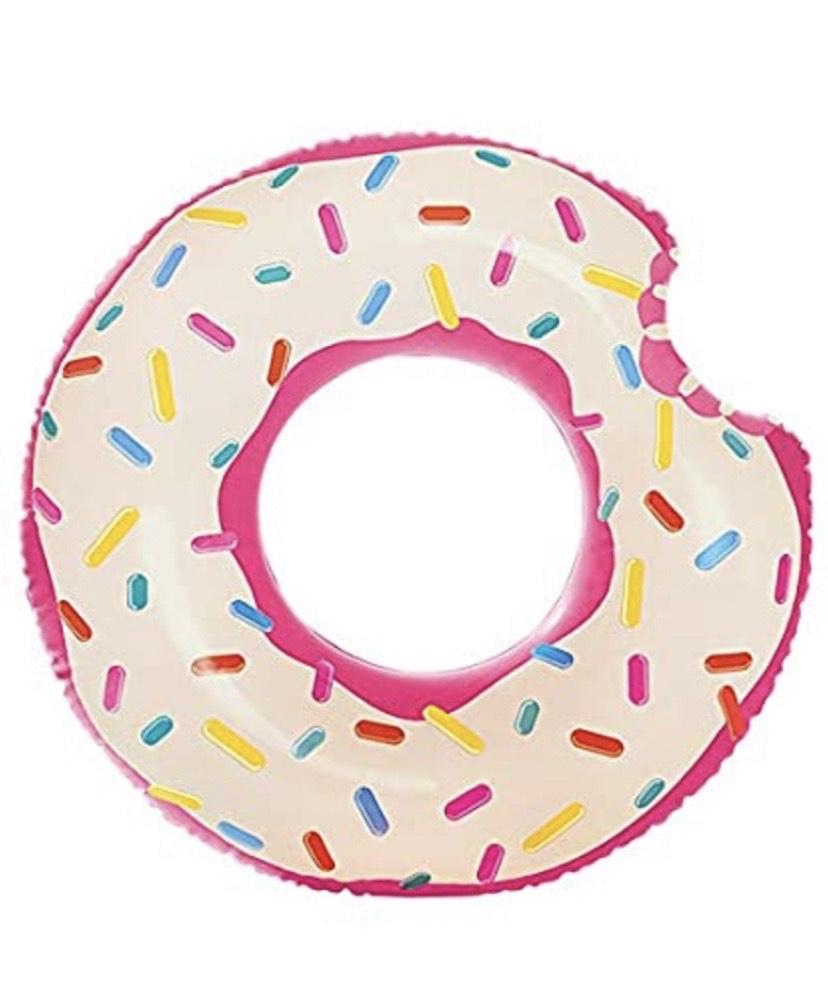 Rueda hinchable Donut de fresa 107 x 99 cm Intex