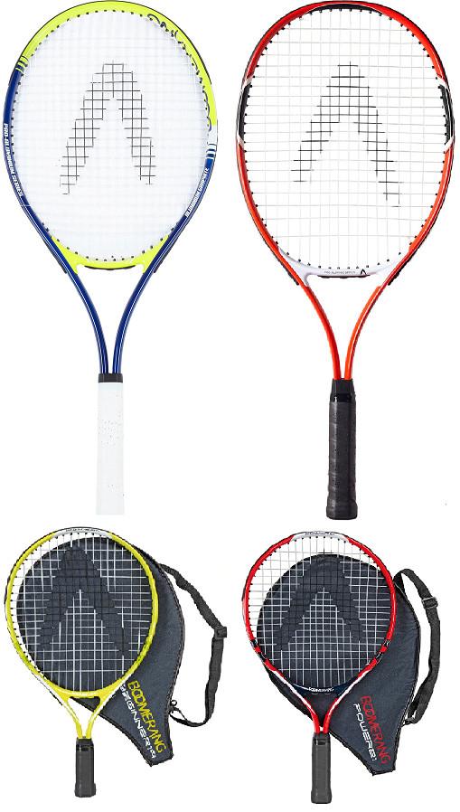 Raquetas tenis adulto sin funda y niños con funda Boomerang por 5,95€. Y Dunlop para niños por 8,95€