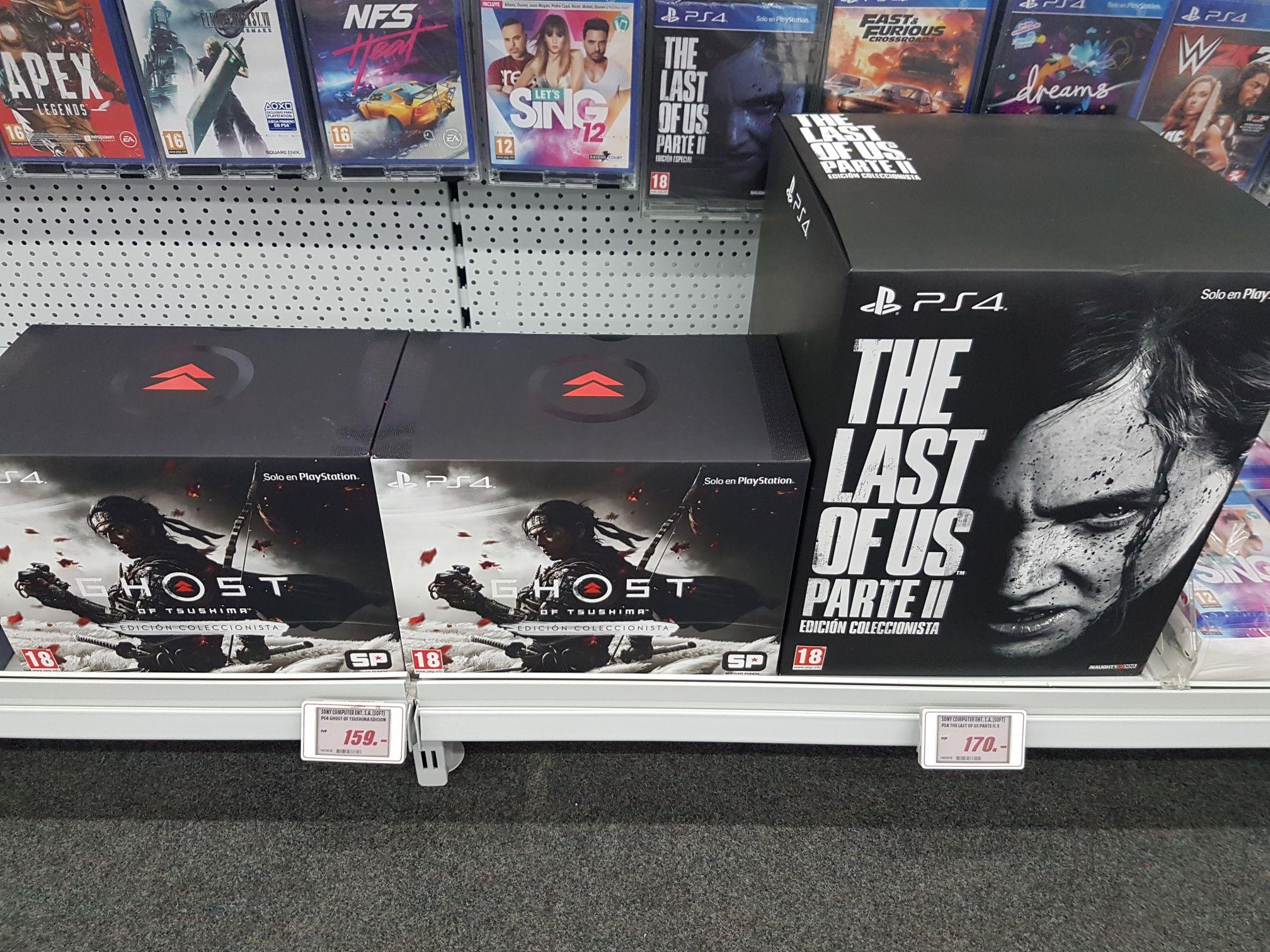 Ediciones coleccionistas Ghost of Tsushima y The Last of Us 2