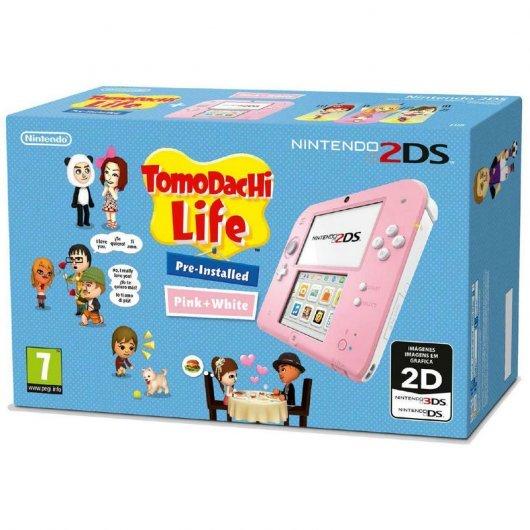 Nintendo 2DS Rosa/Blanca + Tomodachi Life REACO