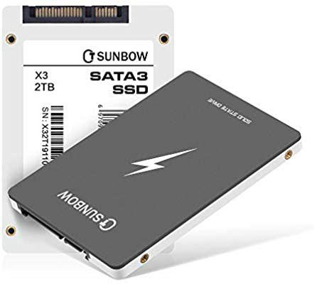 "TCSUNBOW SSD 2 TB SATA III 2,5"""