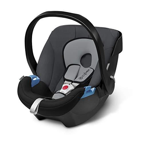Cybex Silver - Portabebés Aton, en contra de la marcha, incluye reductor para recién nacido, desde nacimiento hasta aprox.18 meses, max.13kg