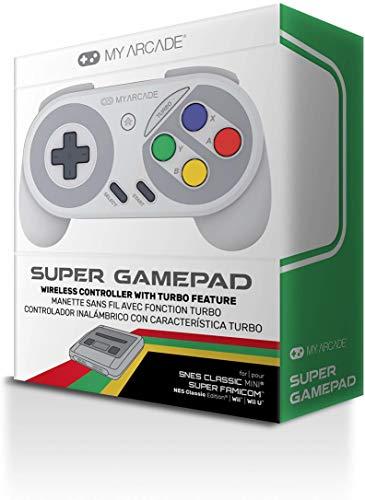 Mando inalámbrico Super Gamepad para Snes Classic Mini, Nes Classic, Wii Y Wiiu (Super Nintendo)