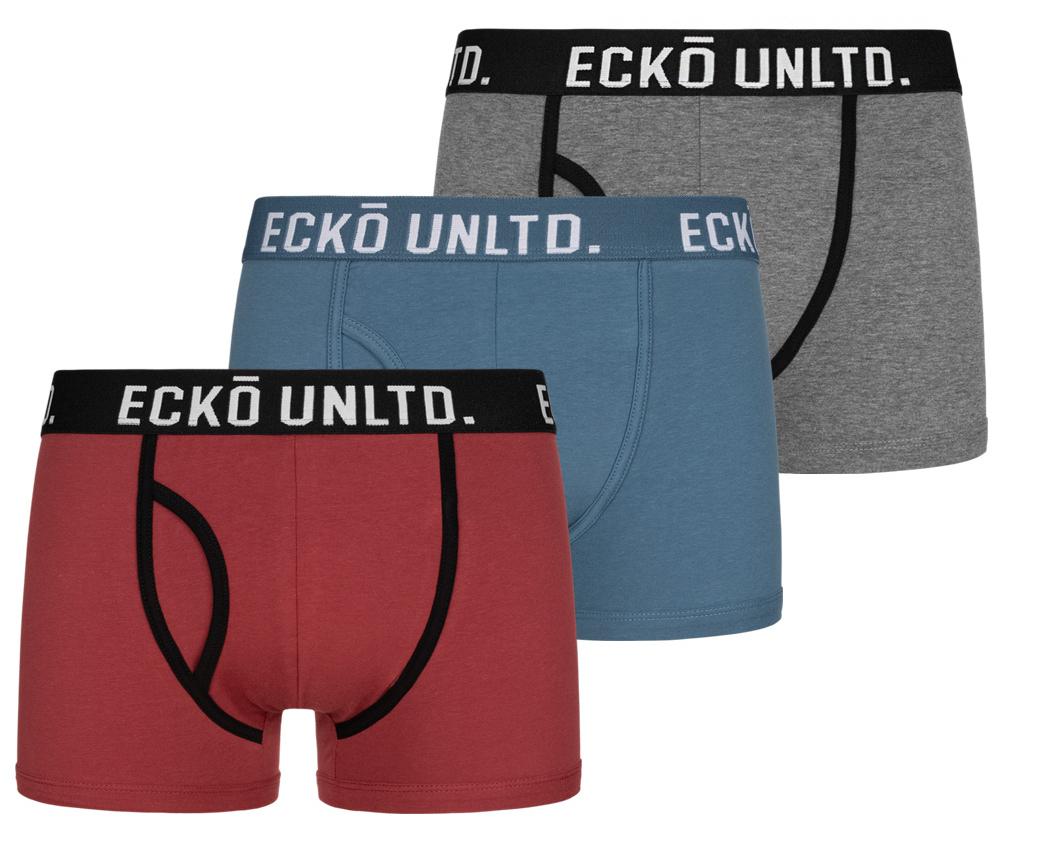Ecko Unltd. Vulcan pack de 3 boxer [Varios colores a elegir]