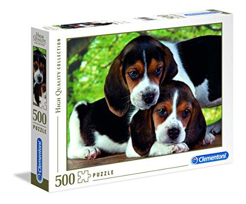 Puzzlee 500 piezas clementoni, cachorritos