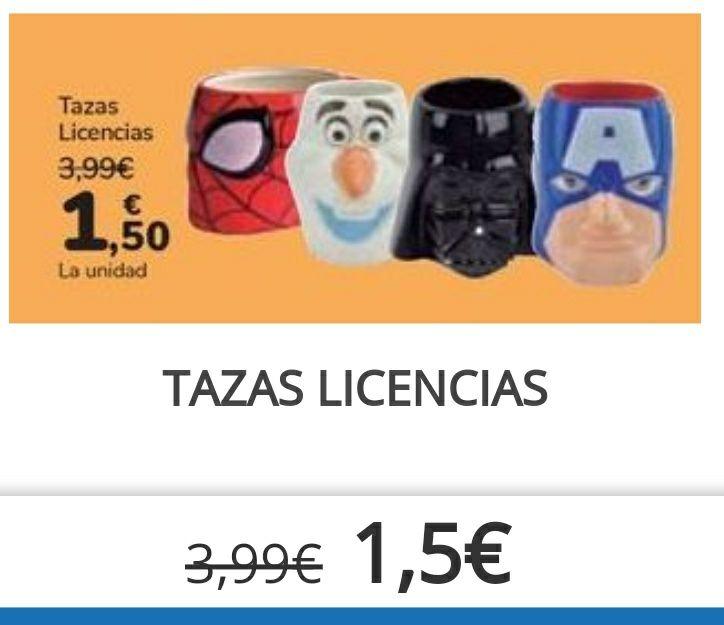 TAZAS CERÁMICAS (varios modelos) dark vader, spiderman, capitán América, olaf