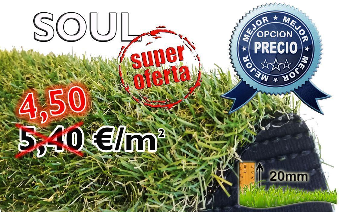CESPED ARTIFICIAL 20mm SOUL ¡¡ OFERTA DE VERANO 4,50€/m2!!
