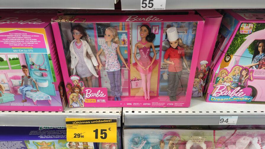 Muñecas Barbie profesiones