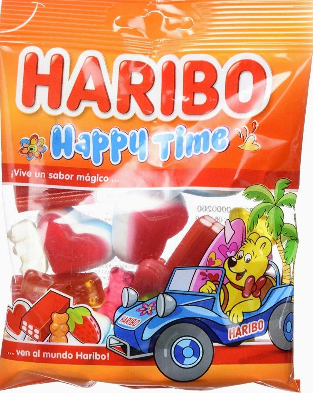 Haribo Happy Time. 18 bolsas x 90 gr. Total: 1620 gr (0.45 € bolsa,precio mínimo)