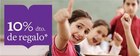 10% de descuento en próxima compra al comprar libros de texto