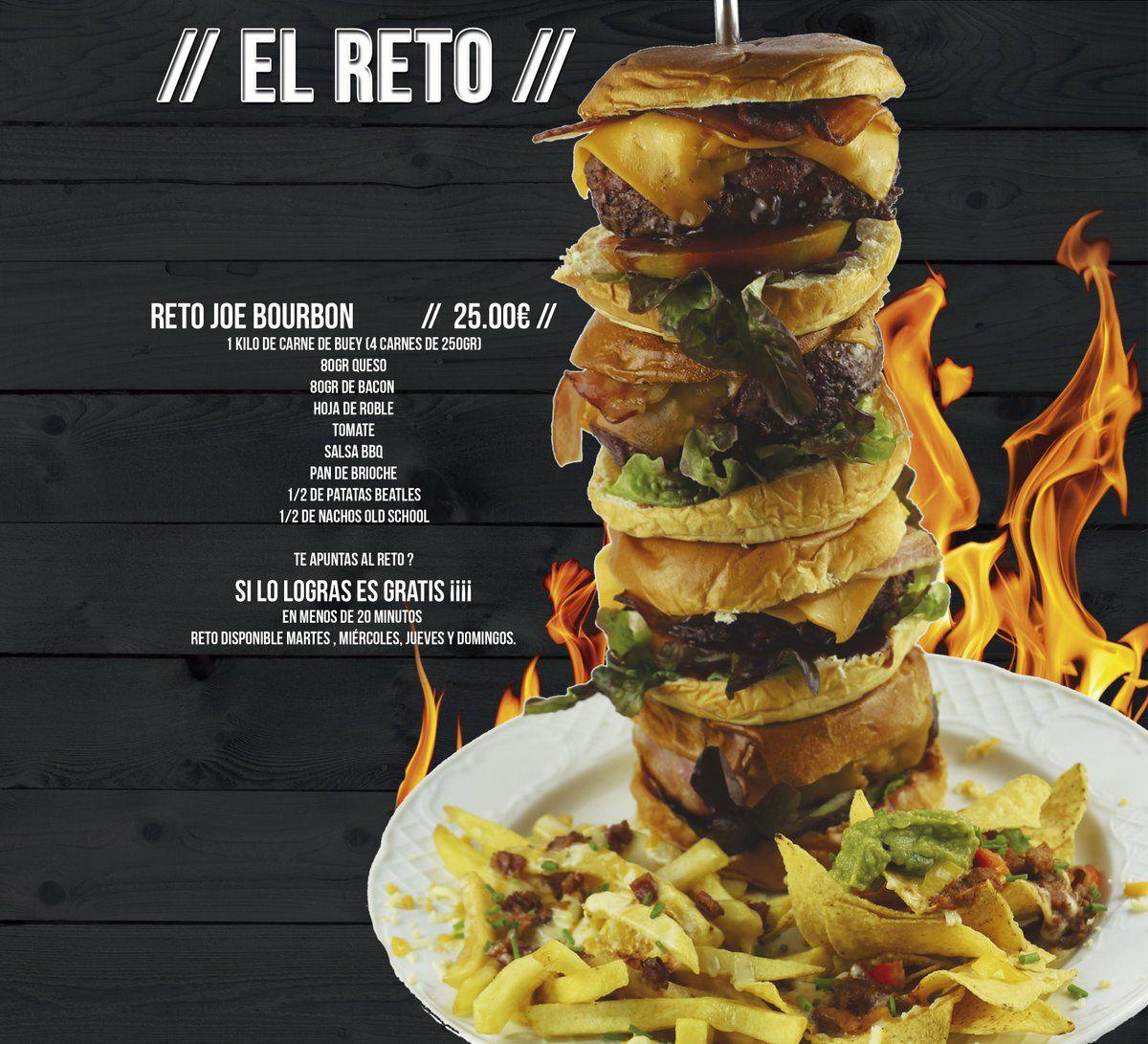 Hamburguesa gratis (si te la comes entera en <20 min) Bourbon Illescas (Toledo)