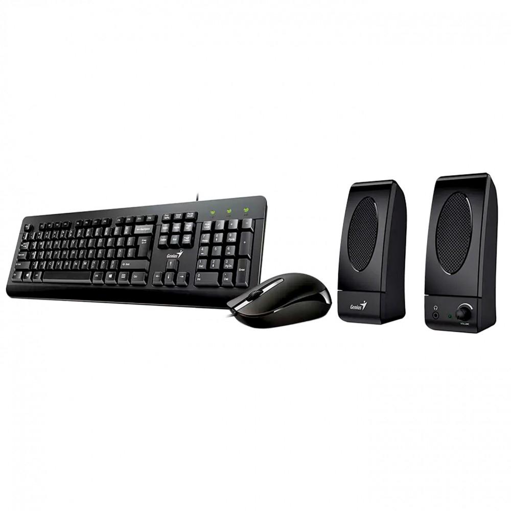 pack raton teclado y altavooces genius