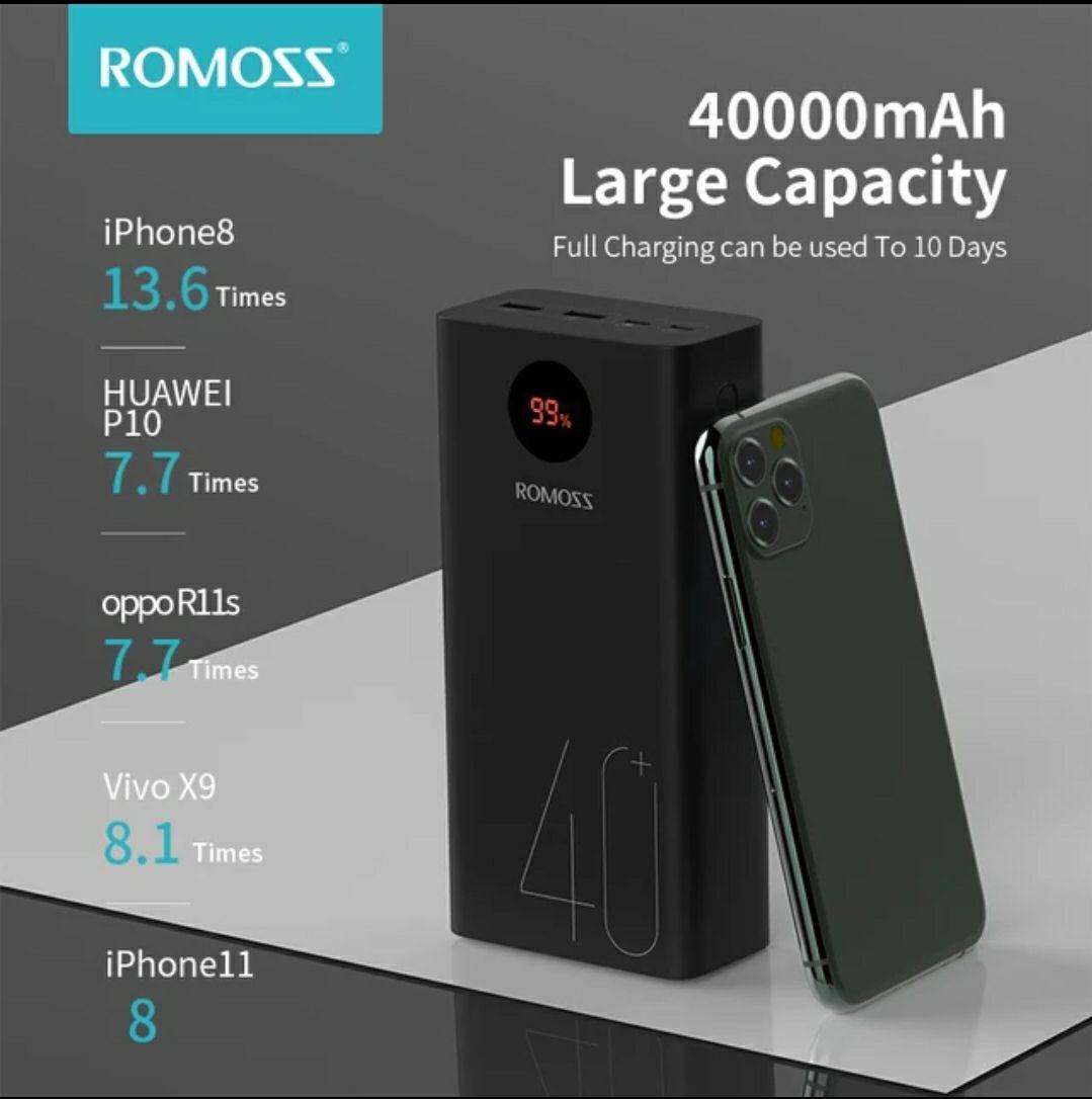 Batería externa ROMOSS Zeus 40000mAh