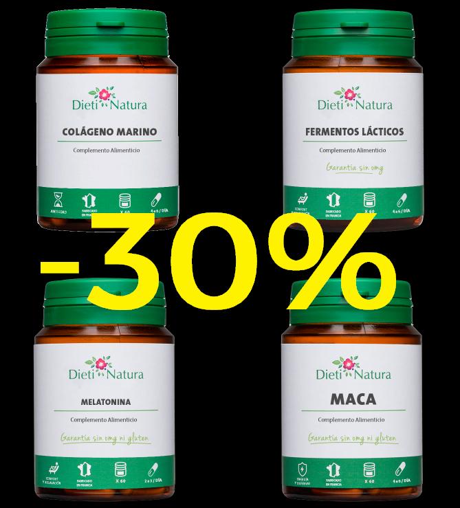30% de descuento en una gran selección de productos Dieti Natura