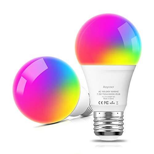 2pack Bombilla LED Inteligente WiFi E2 multicolor