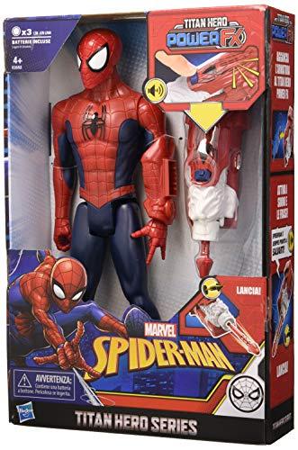 Spider-Man Titan Hero Power FX con Lanzador de Brazo, Hasbro Marvel