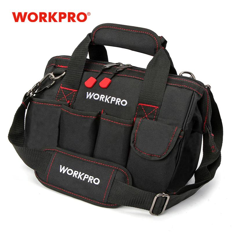 Bolsa de herramientas Workpro con varios compartimentos desde España