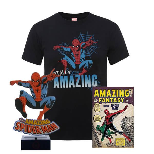Pack Marvel The Amazing Spider-Man: Camiseta + Lámpara + Póster
