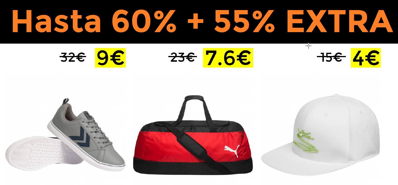 Hasta 60% + 55% EXTRA en Deporte-Outlet