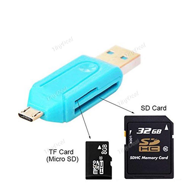 USB OTG lector de tarjetas