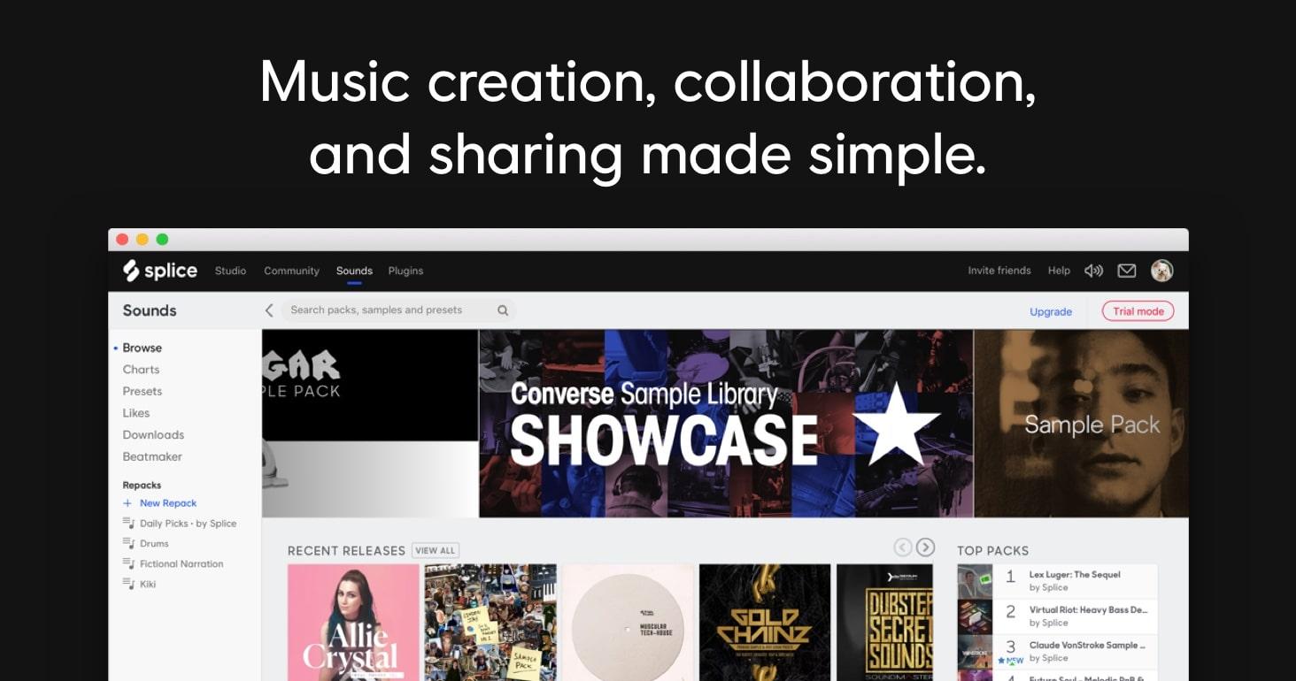 1 mes gratis de Splice Sounds 100 (biblioteca de sonidos para producción musical)