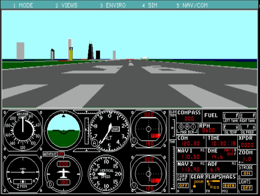 Flight Simulator, 4 versiones Retro desde tu navegador