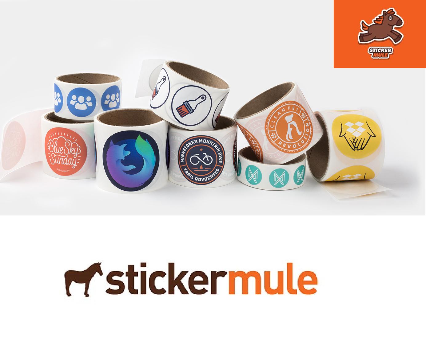 50 Etiquetas en rollo de círculo personalizadas de 76 mm × 76 mm