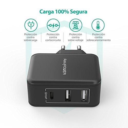 Cargador 2 puertos y 1 C RAVPower