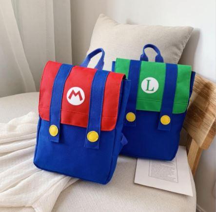 Mochila Mario/Luigi para niños de entre 3 a 5 años. Nintendo