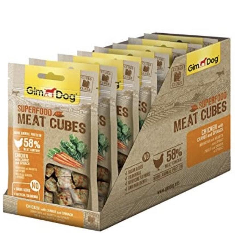 8 bolsas de GimDog - Conos de Comida para Perros con un Alto Porcentaje de Carne,