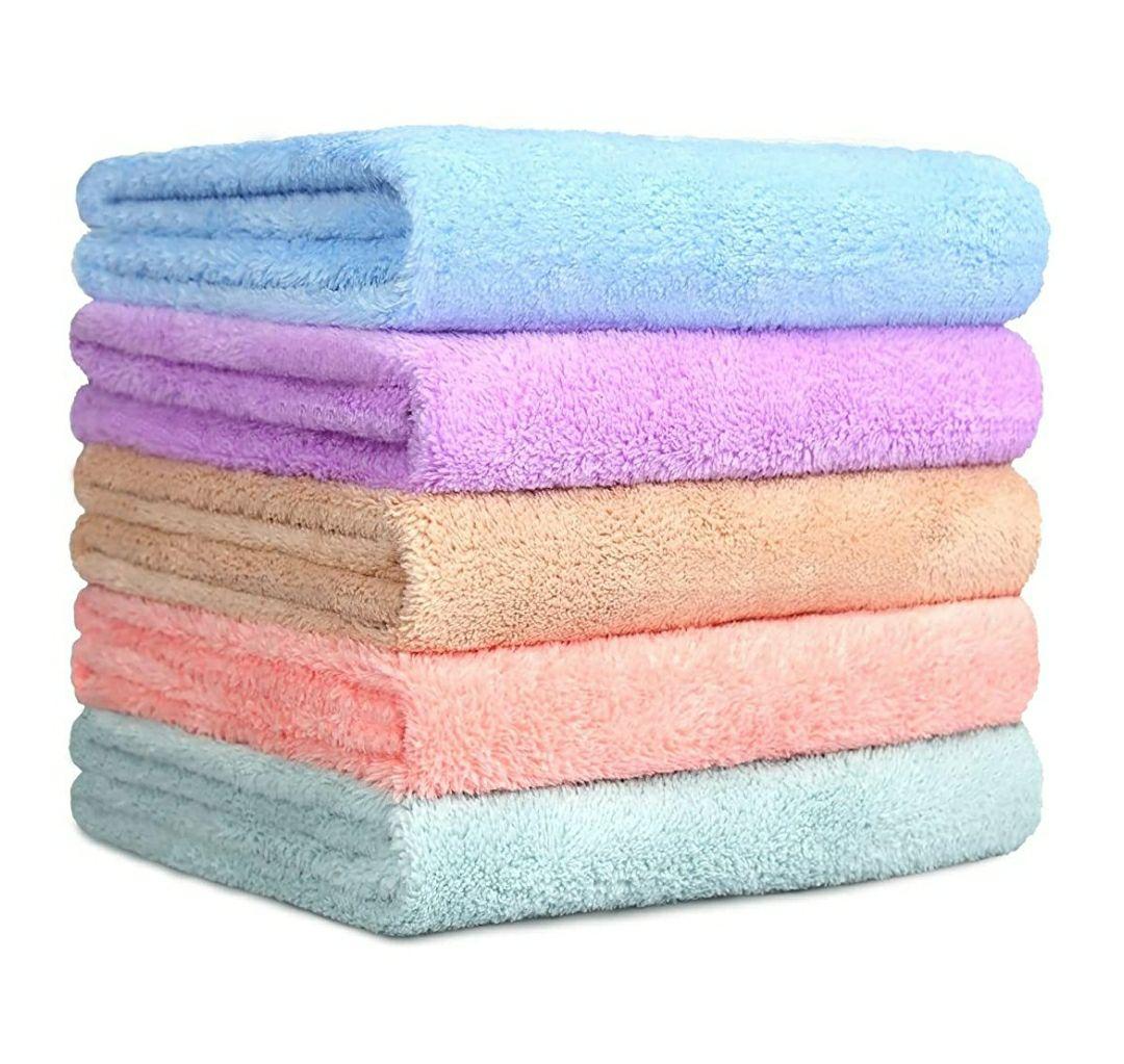 Pack de 5 toallas de lana de coral