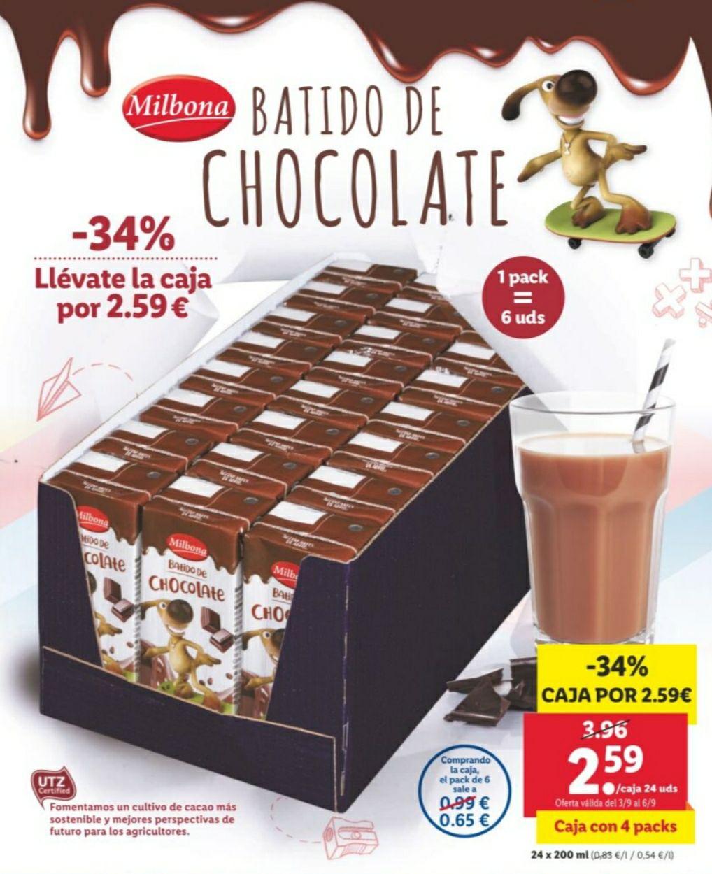Batido de chocolate 24x200ml LIDL