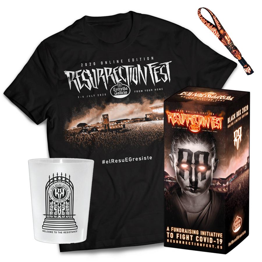 Black Box del Resurrection Fest (camiseta unisex + vaso + pulsera) por 20€